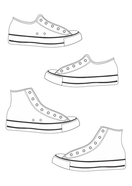 coloring page shoes