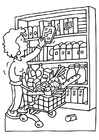 Coloring pages shopping
