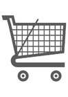 Coloring pages shopping trolley