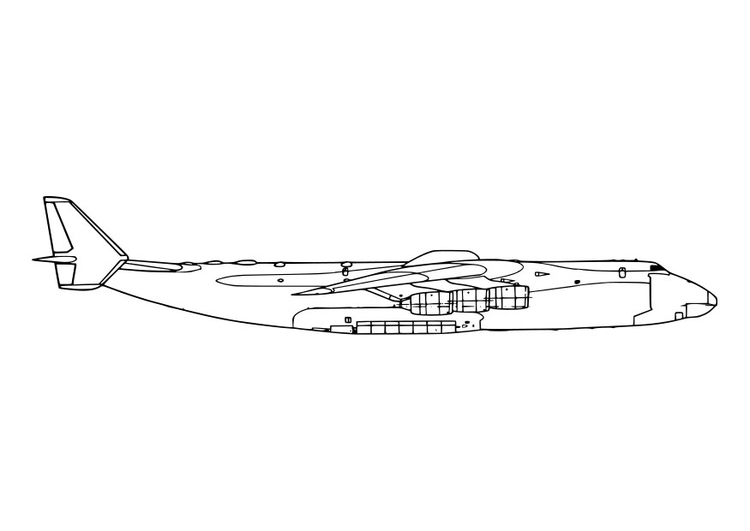 Coloring page side of an aeroplane