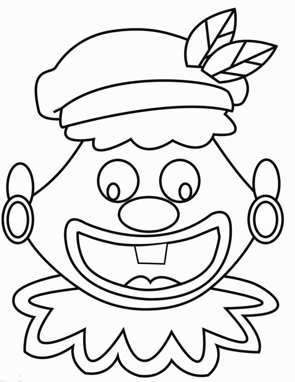 Coloring page Silly Piet Face (2)