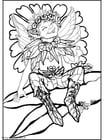 Coloring page silver elf