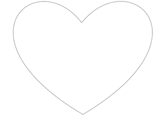 Coloring page simple heart