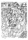 Coloring page Singing Christmas Carols