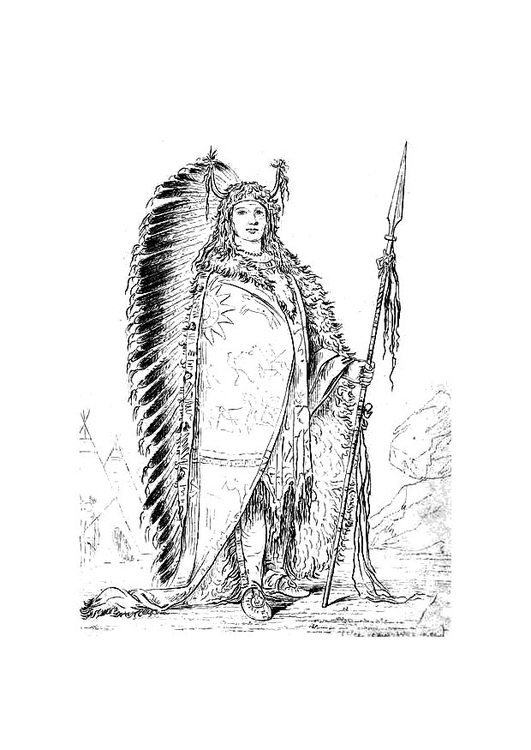 Coloring page Sioux indian