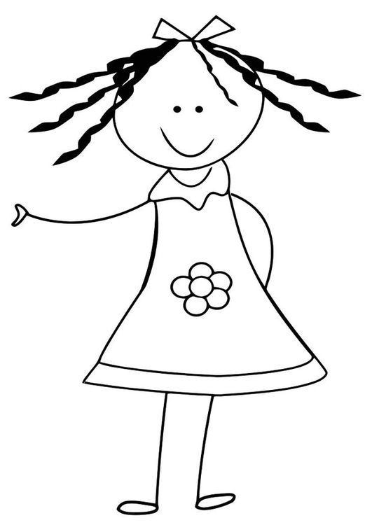 Coloring page sister