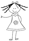 Coloring pages sister