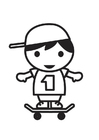 Coloring pages Skater