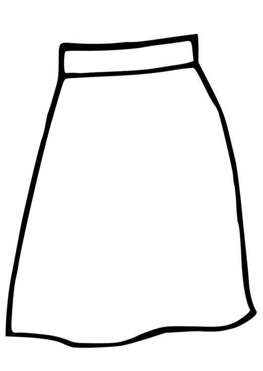 Coloring page skirt
