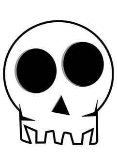 Coloring page skull