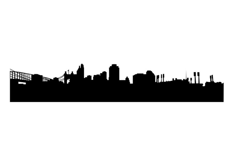 Coloring page skyline - Cincinatti