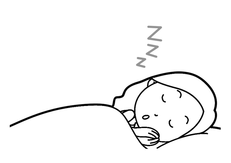 Coloring page sleep hygiene