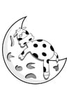 Coloring pages sleeping cow