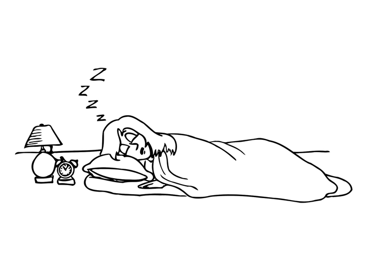 Coloring page sleeping