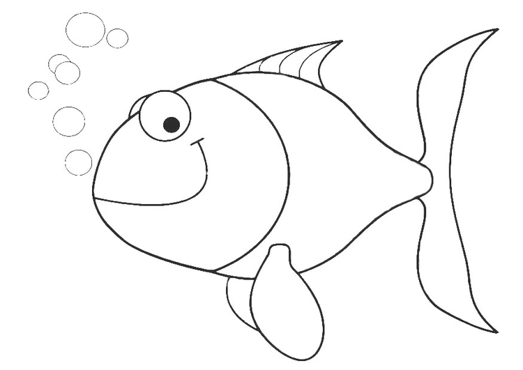 Coloring page small fish