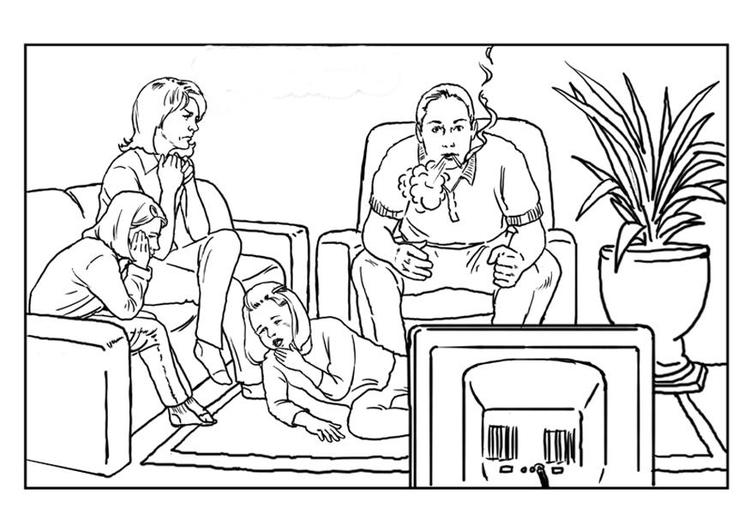 Coloring page smoking