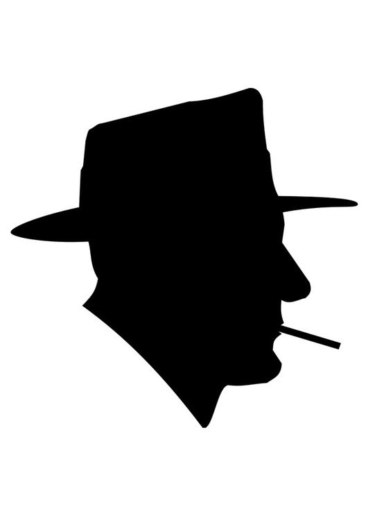 Coloring page smoking man