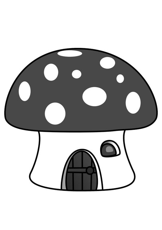 Coloring Page Smurf House Img 29857