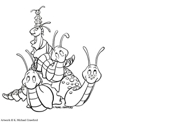 Coloring page snails and slugs