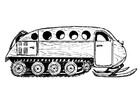 Coloring page snow vehicle