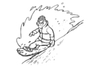 Coloring page snowboarding