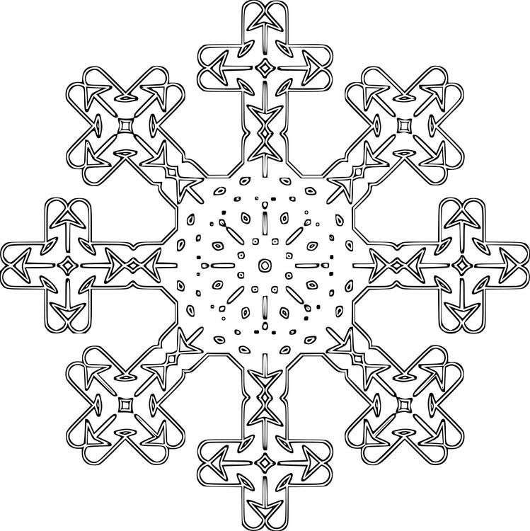Coloring Page Snowflake Img 16152