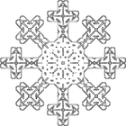 Coloring pages snowflake