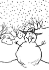 Coloring pages Snowmen