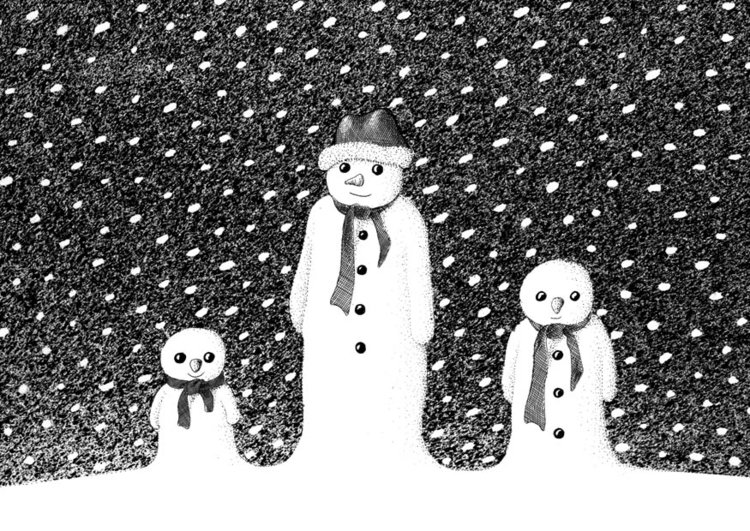 Coloring page snowmen