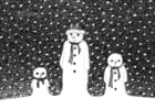 Coloring page snowmen