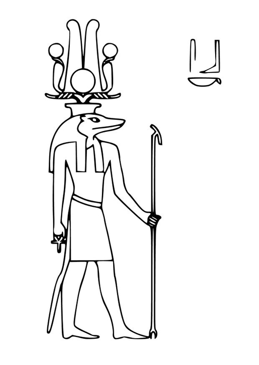 Coloring page Sobek