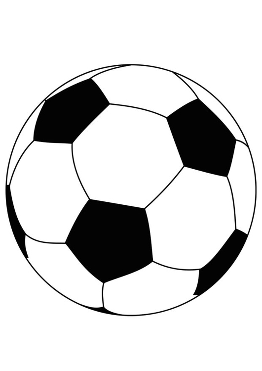 Coloring page soccer ball