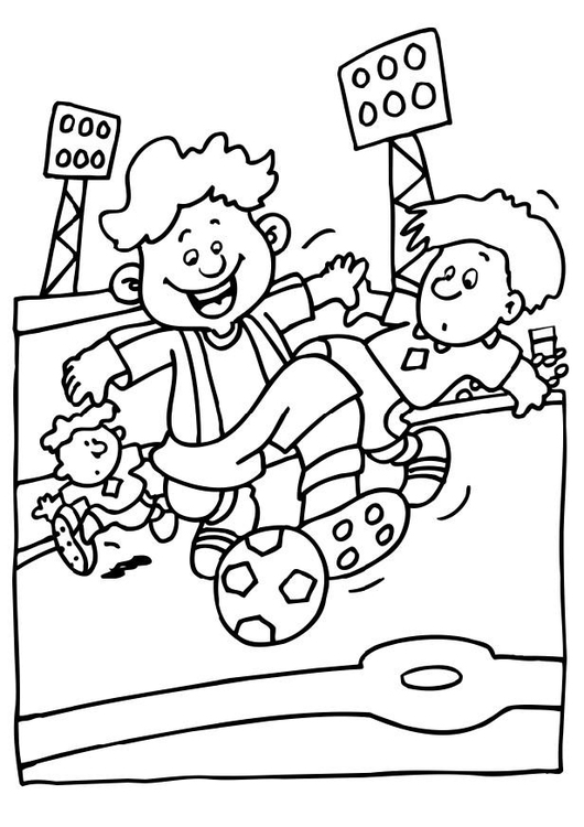 Coloring page soccer