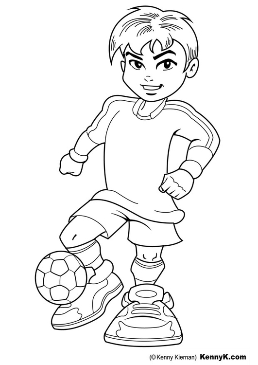 Coloring page soccer player