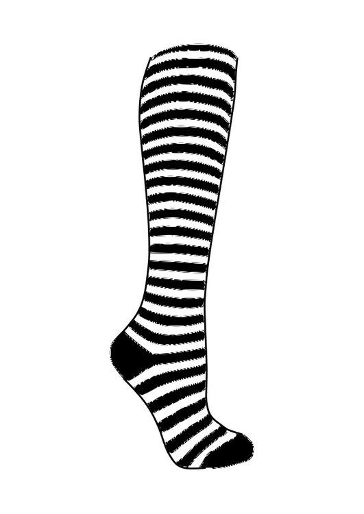 Coloring page sock