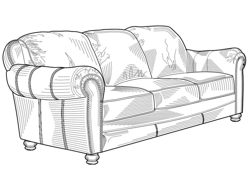 Couch Coloring Page