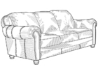 Coloring pages sofa