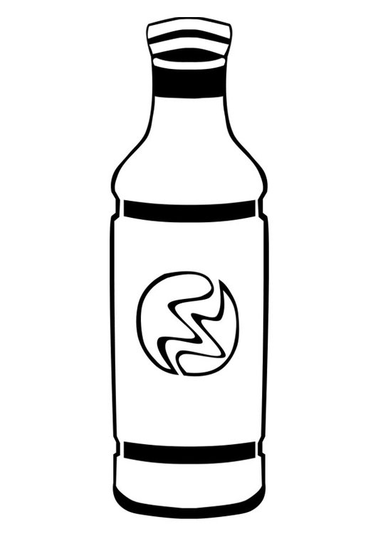 Coloring page soft drink