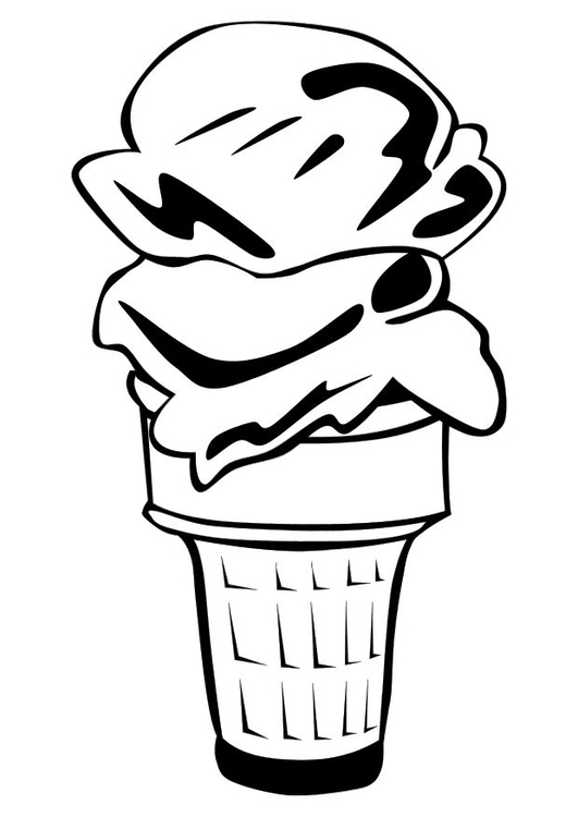 Coloring page soft ice cream cone