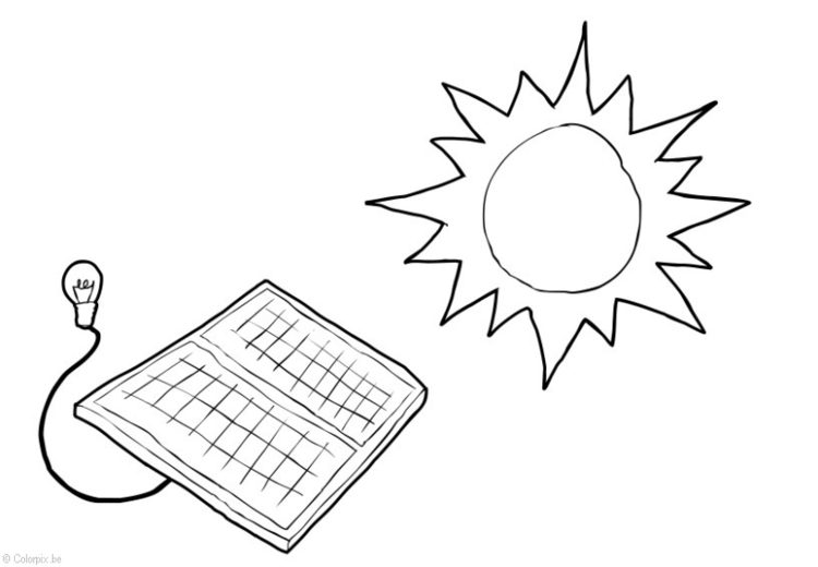 Coloring page Solar energy