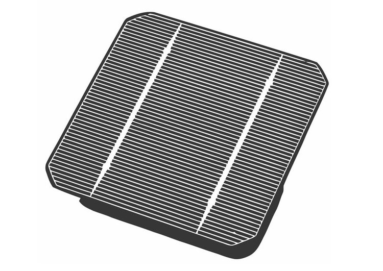 Coloring page solar panel