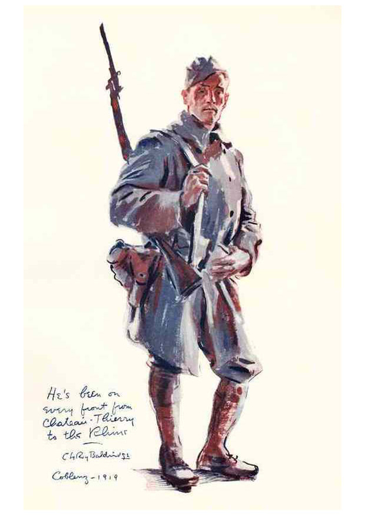 Coloring page Soldier at the Front First World War