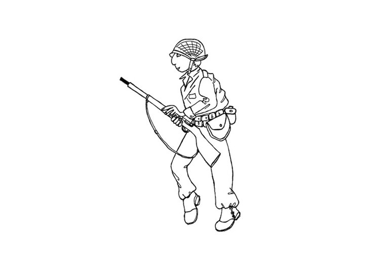 Coloring page soldier