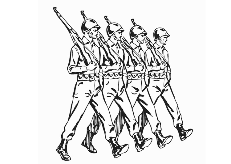 Coloring page soldiers