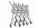 Coloring pages soldiers