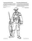 Coloring pages soldier,WWI