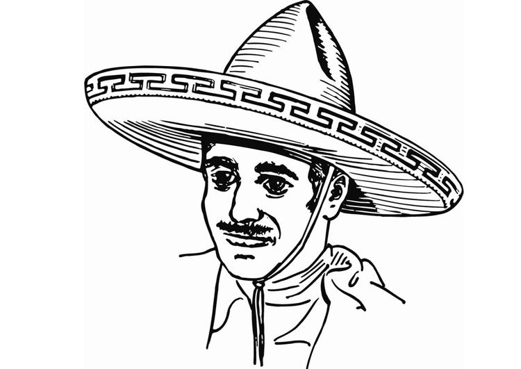 Sombrero Coloring Page Printable Coloring Page Sombrero