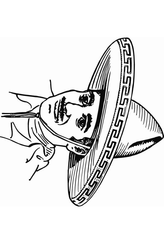 Modern Sombrero Coloring Page Vignette - Ways To Use Coloring Pages ...