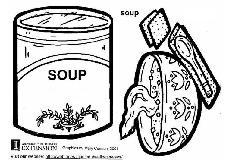 soup and sandwiches coloring pages - photo#24
