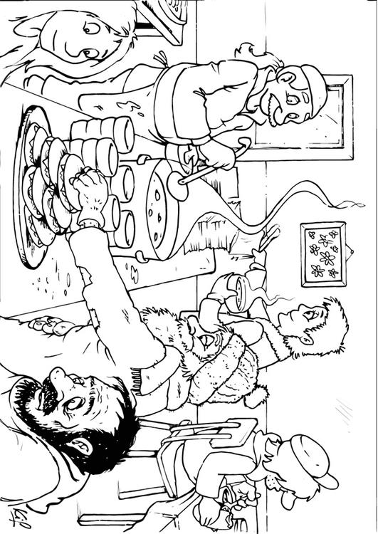 Coloring Page Soup Kitchen